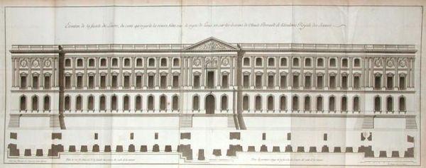 Façade orientale du Louvre, projet attribué à Claude Perrault
