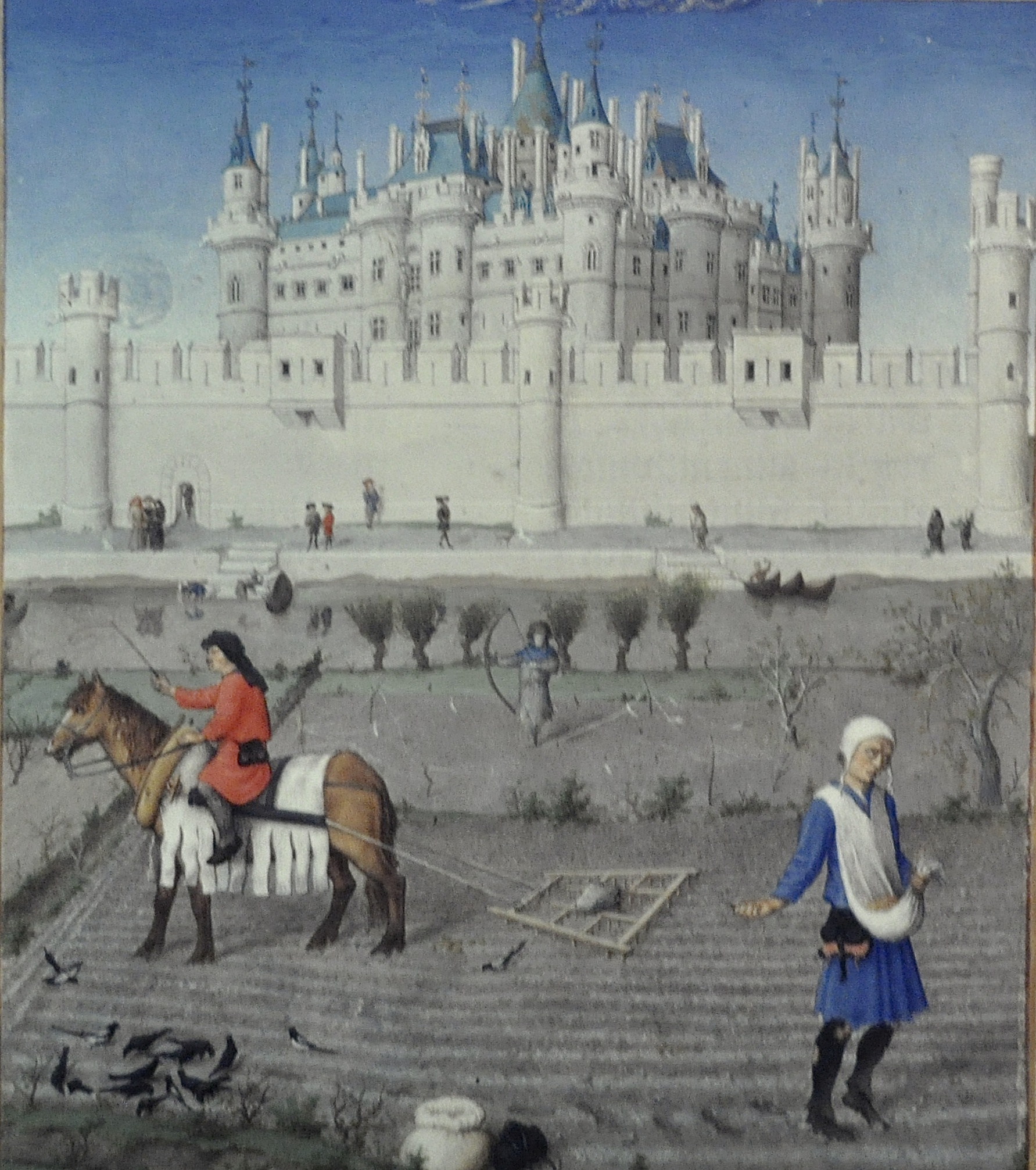 Le Louvre de Charles V, Les très riches heures du Duc de Berry