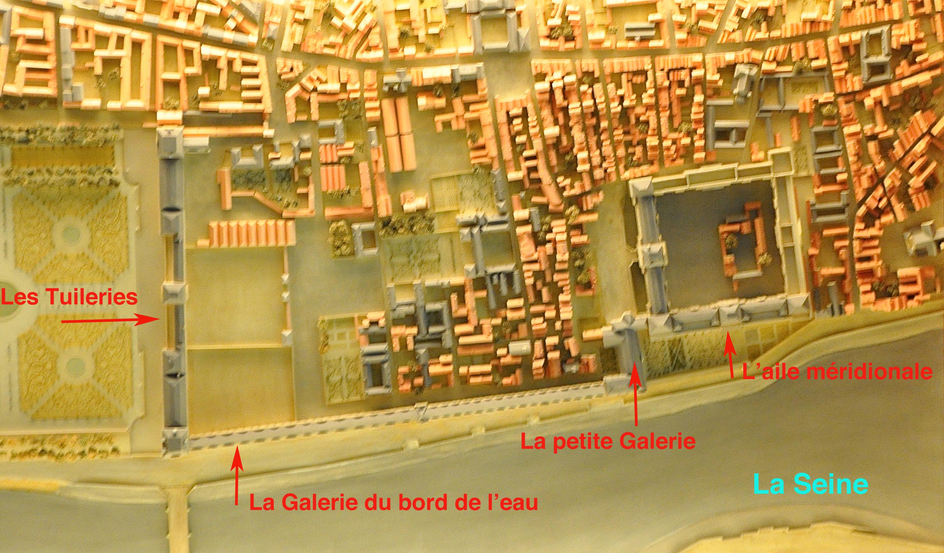 Le Louvre de Louis XIV, maquette, salles d'histoire, Le Louvre, Paris