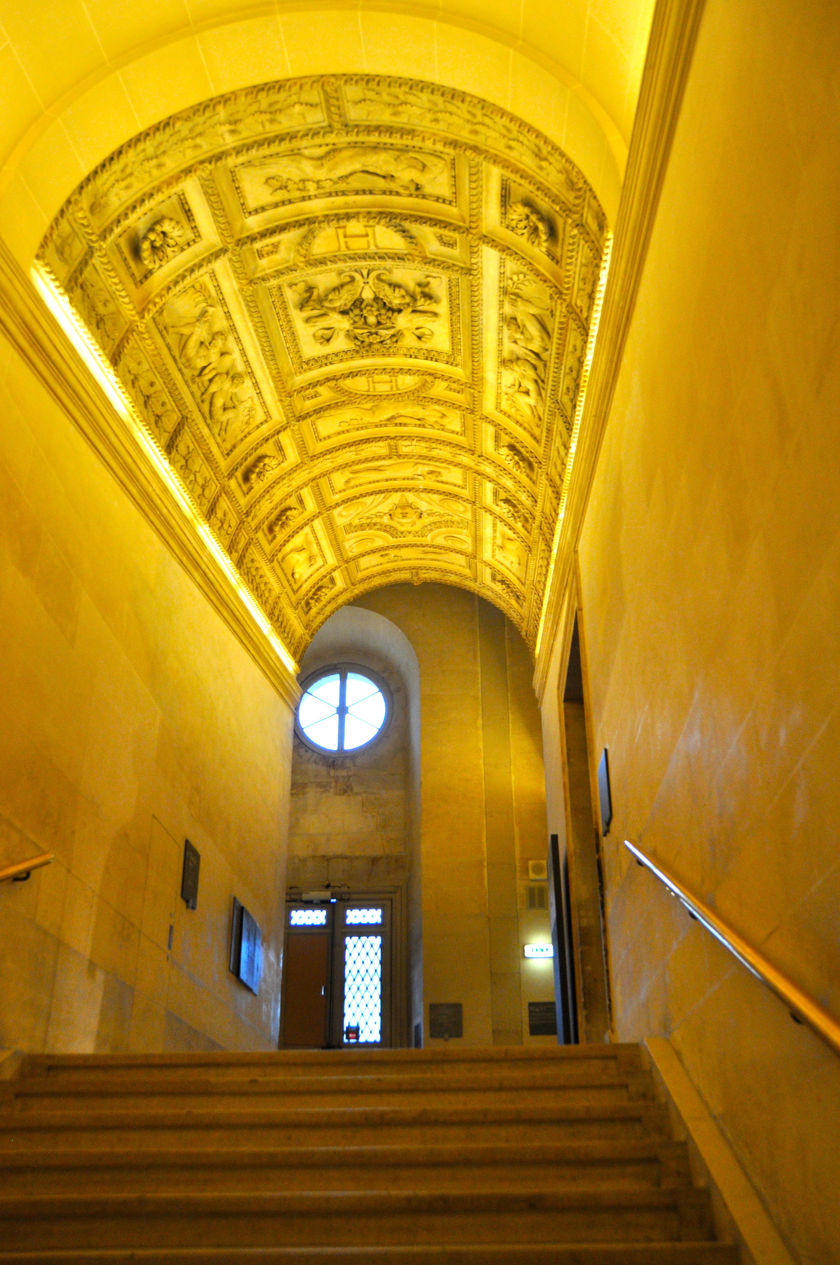 Escalier Henri II, Le Louvre, Paris