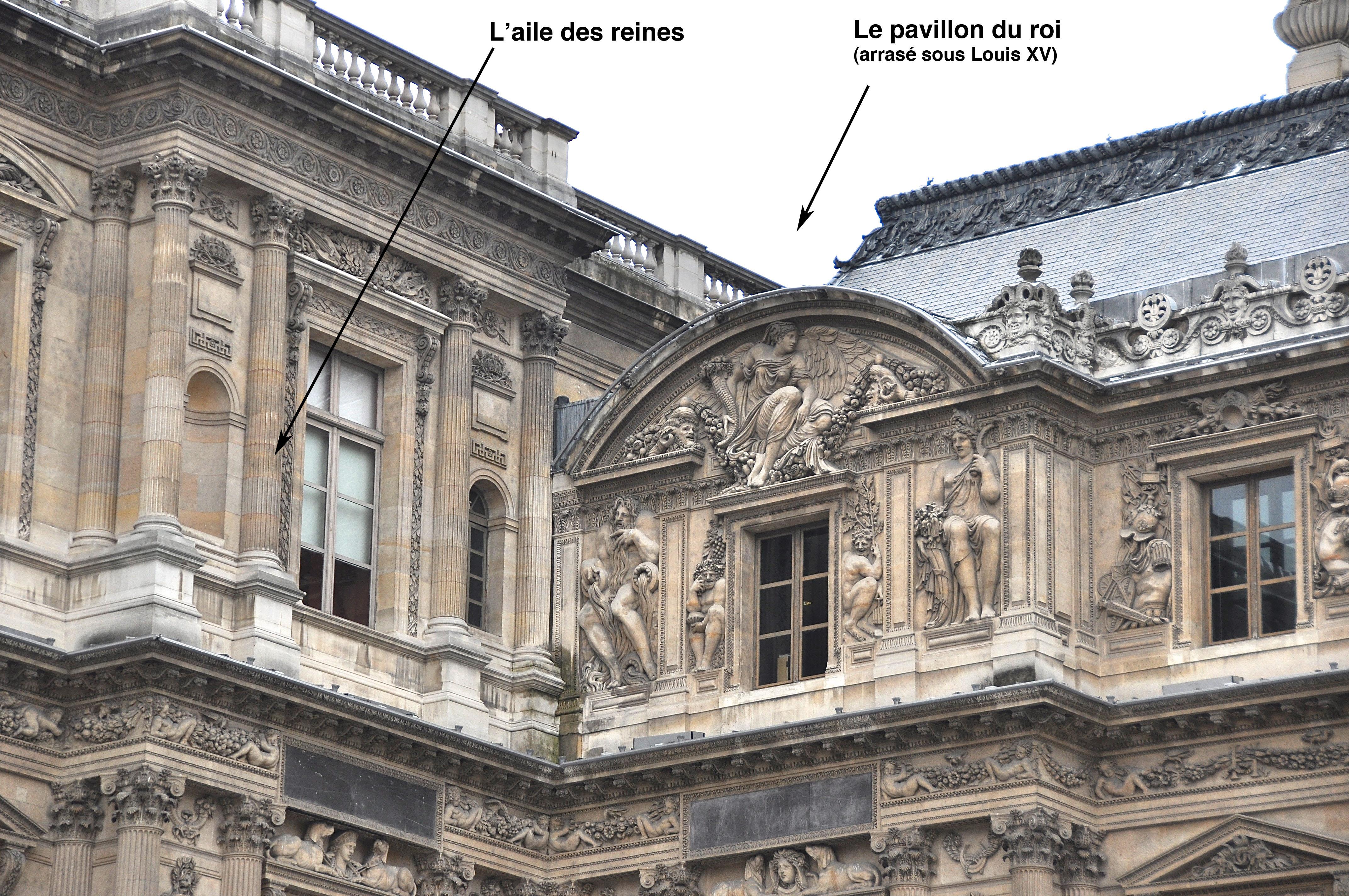 L'angle Sud-Ouest de la Cour Carrée, Le Louvre, Paris