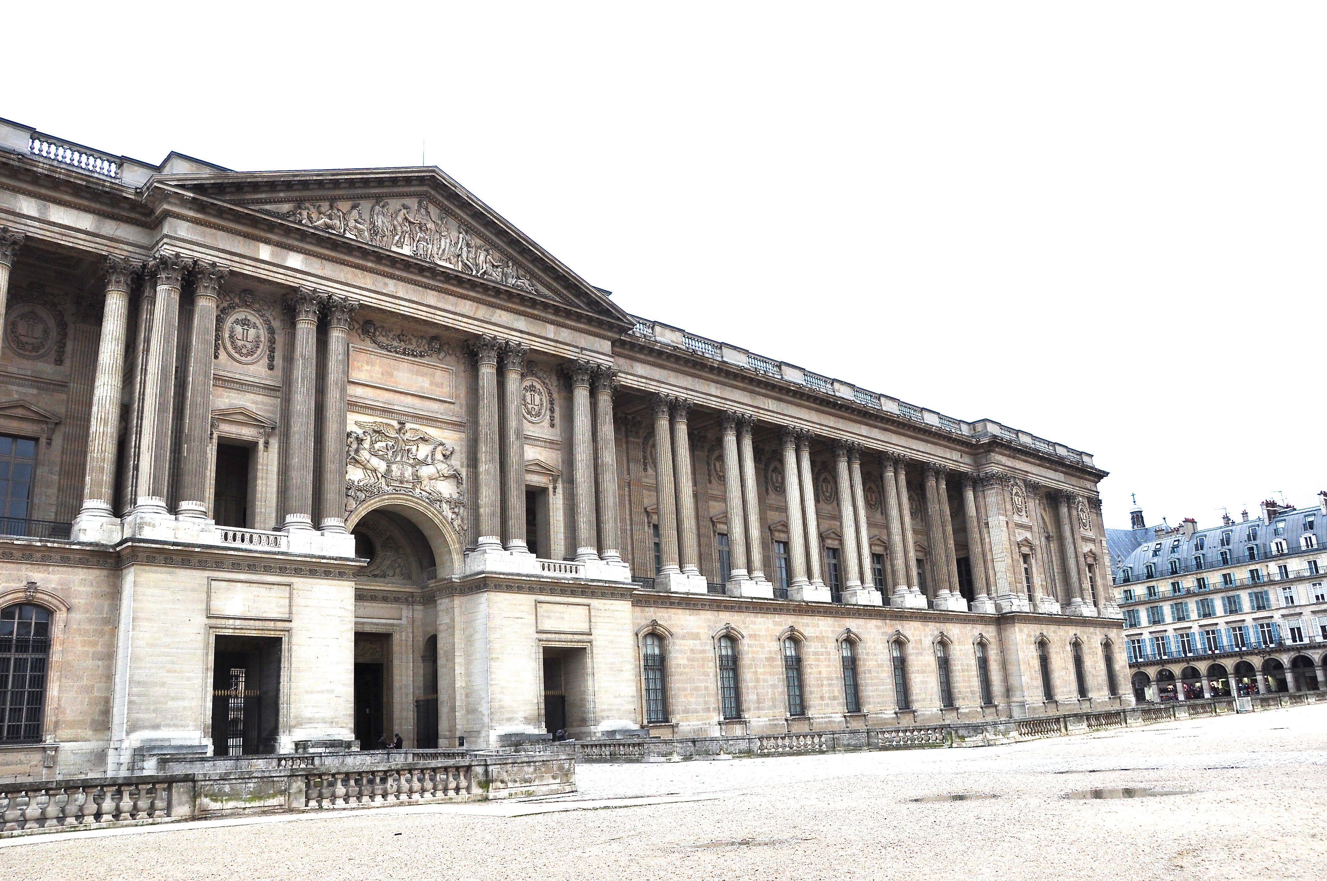 La façade orientale du Louvre, colonnade de Perrault, Paris