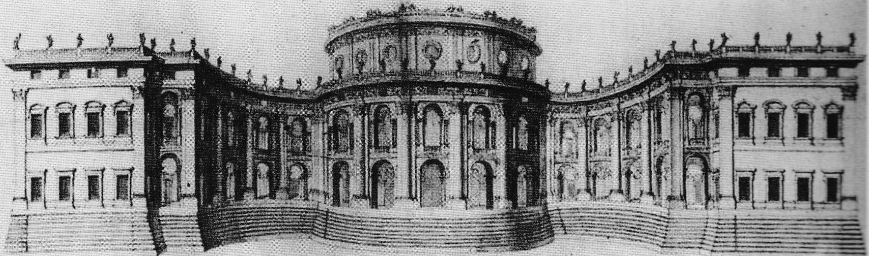 Un des deux projets de Gian Lorenzo Bernini pour le Louvre