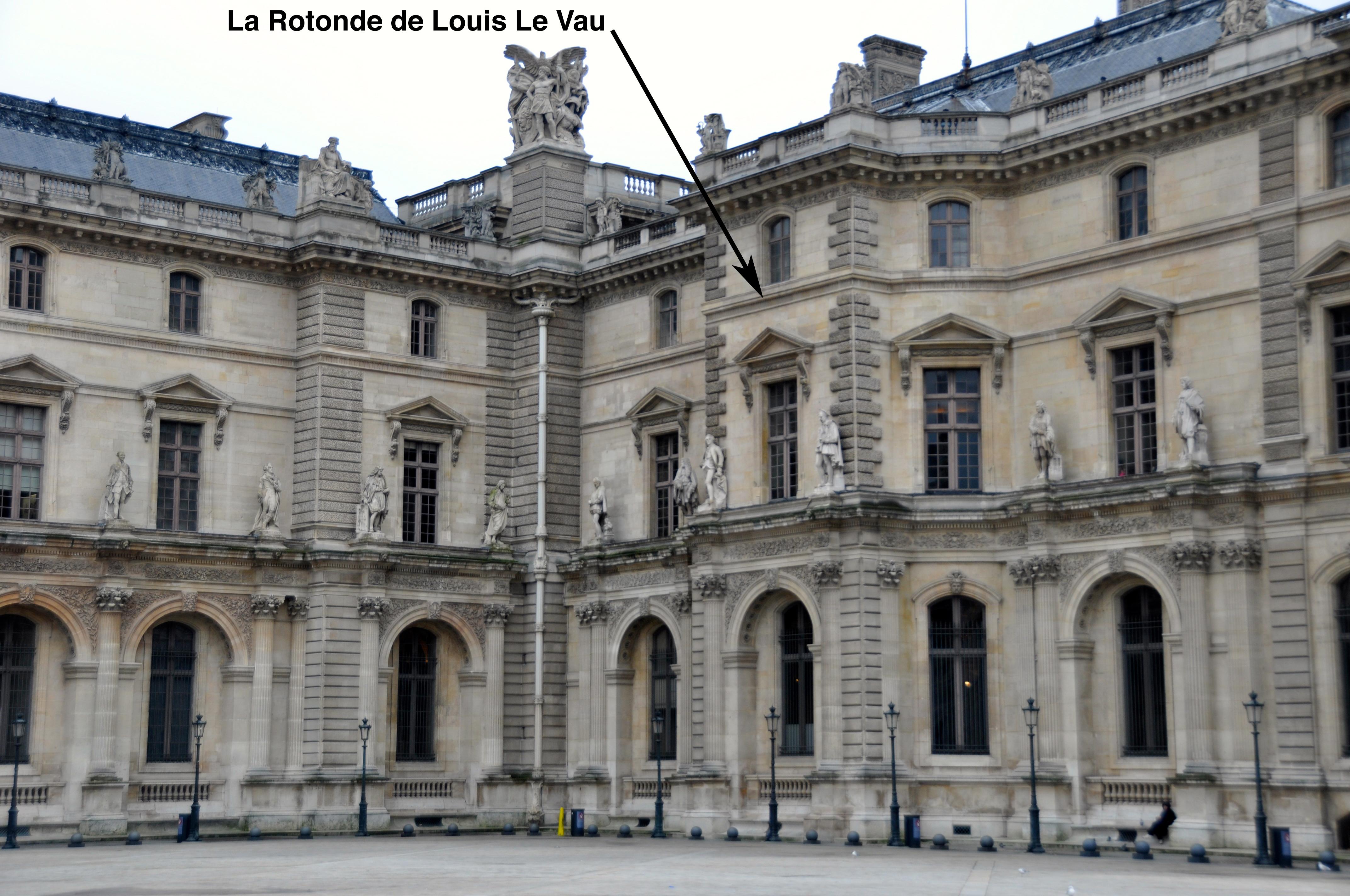 La Rotonde de Louis Le Vau, Le Louvre, Paris