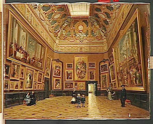 Le Salon Carré du Louvre, par Lucian Przepjorski, département des peintures du Louvre