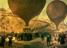 Gambetta quitte Paris en ballon le 7 octobre 1870